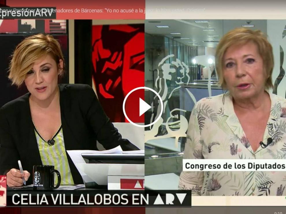 Celia Villalobos i Cristina Pardo