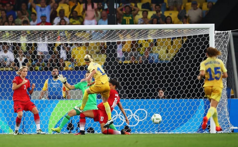 Moment de la final olímpica entre Alemanya i Suècia a Rio 2016