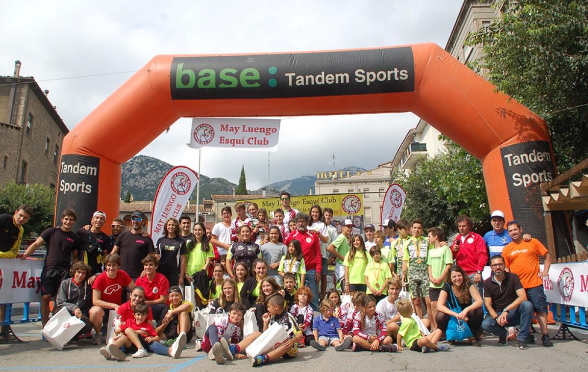 Participants del campionat d'alpí en línia a Berga.
