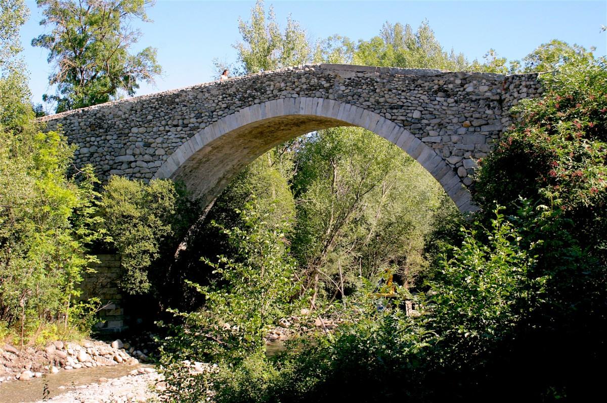 Una imatge general del pont, aquest mes de setembre