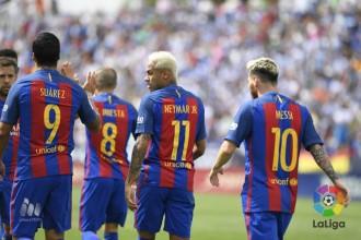 El trident atropella el Leganés (1-5)