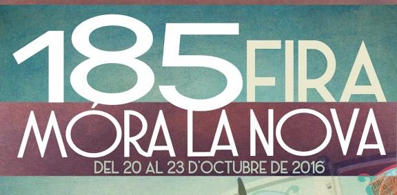 Un cartell d'estil «vintage» anuncia la 185a edició de la Fira de Móra la Nova