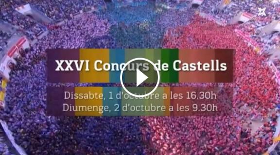 VÍDEO El Concurs de Castells es veurà en directe per televisió i a NacióCastells