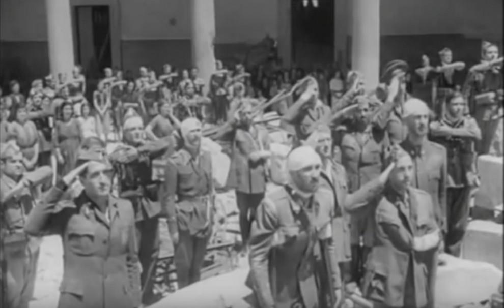 Una imatge del film «Sin novedad en el Alcázar»