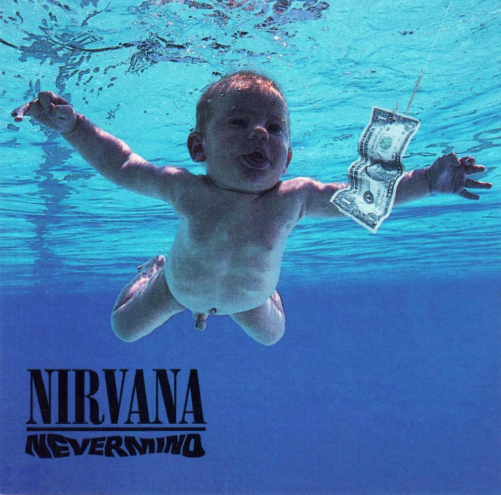 La portada del disc «Nevermind» de NIrvana, ara fa 25 anys