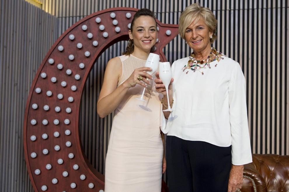 L'actriu Leonor Watling amb la presidenta del Grup Codorníu, Mar Raventós