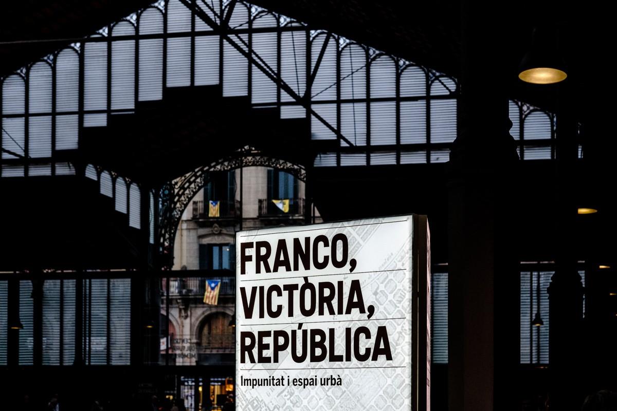 L'exposició del Born sobre les estàtues franquistes de la tardor del 2016.