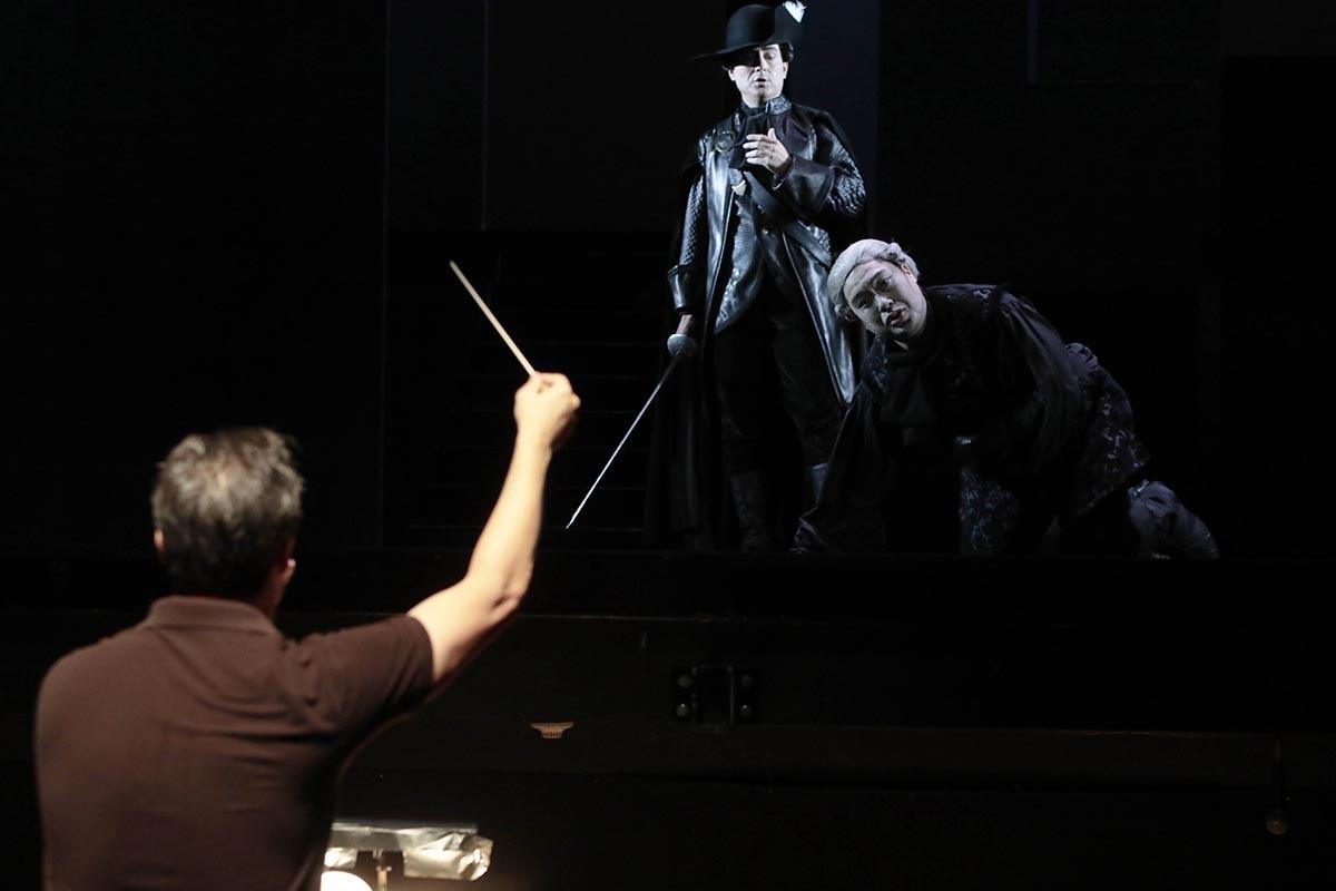 Un fragment de l'assaig de Don Giovanni