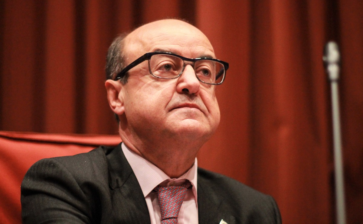 El president del TSJC, Jesús María Barrientos, aquest dijous al Parlament de Catalunya