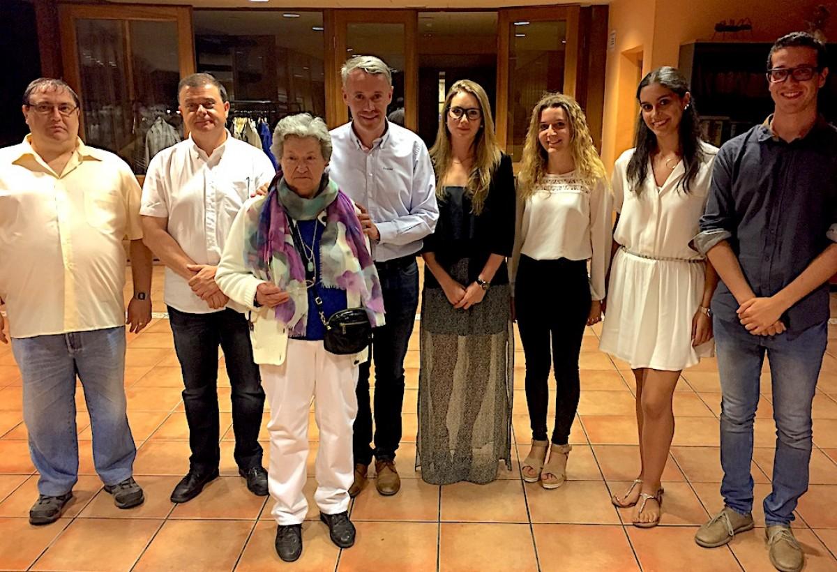 L'última edició dels Premis Sebastià Bosom - Vila de Puigcerdà que organitza l'entitat. A l'esquerra, Enric Quílez, president del GRC