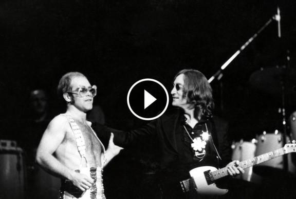 La nit de John Lennon i Elton John