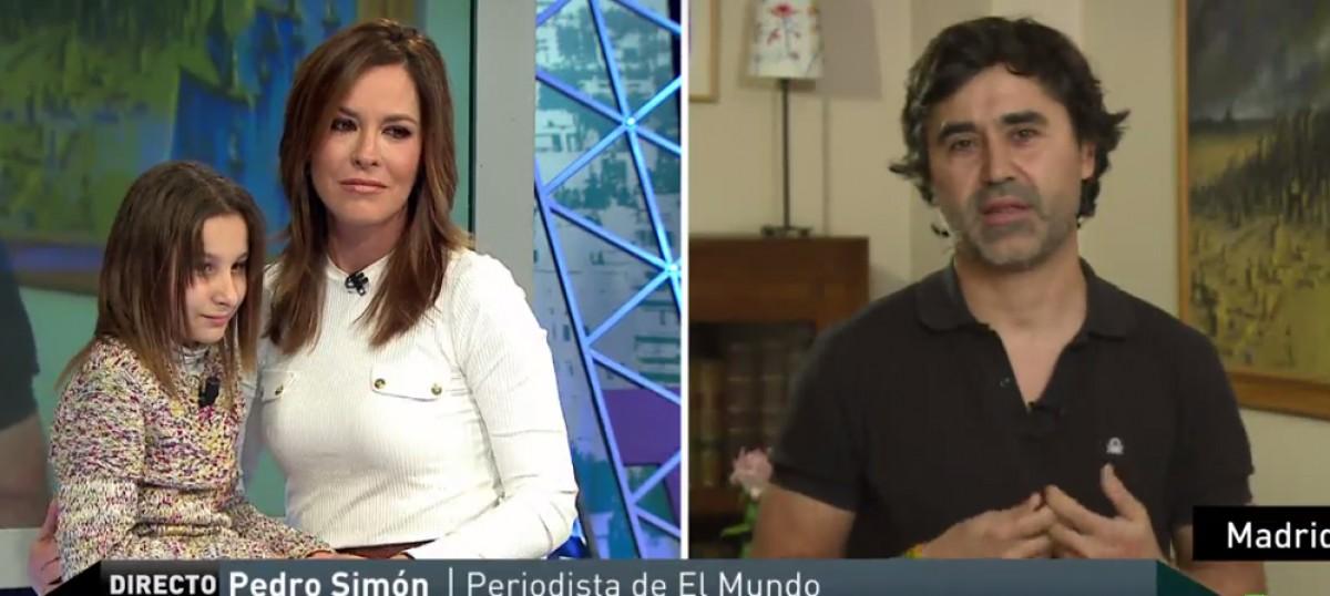 Pedro Simón, a La Sexta i Nadia Nerea, la nena amb tricotiodistrofia, a La Sexta