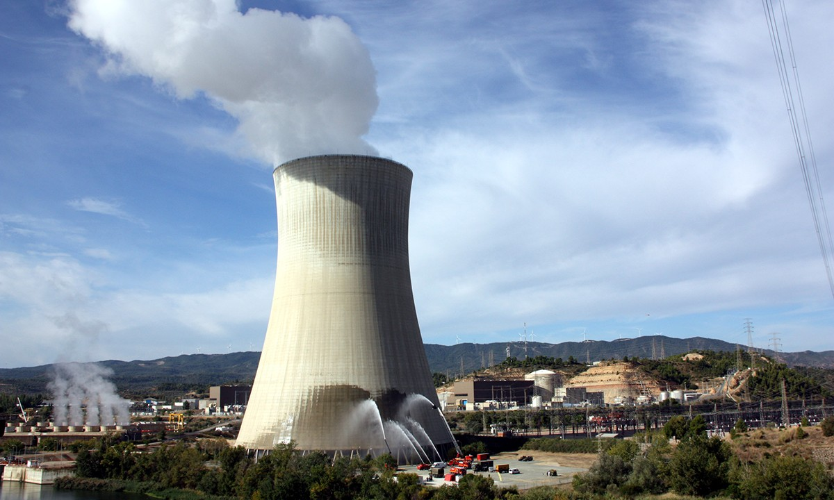 Pla general de la central nuclear d'Ascó