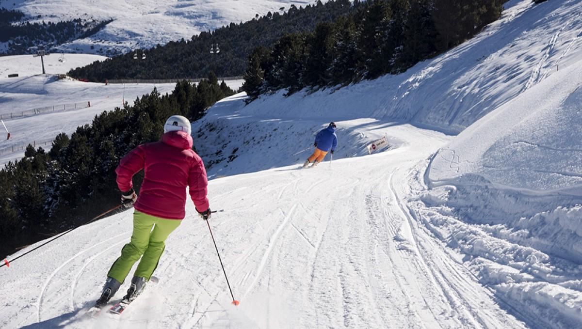 Esquiadors a la Molina.