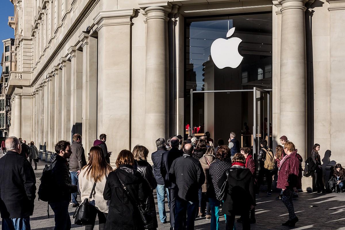 La botiga Apple del centre de Barcelona