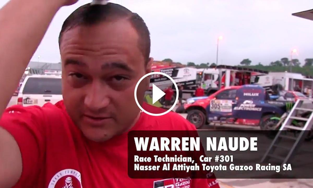 Warren Naude, a primera hora del matí