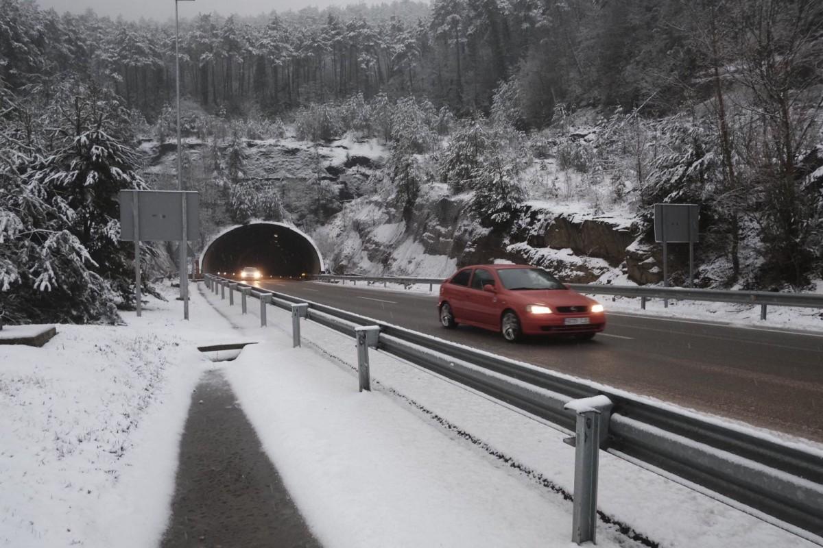 La C-17, una de les carreteres on pot nevar