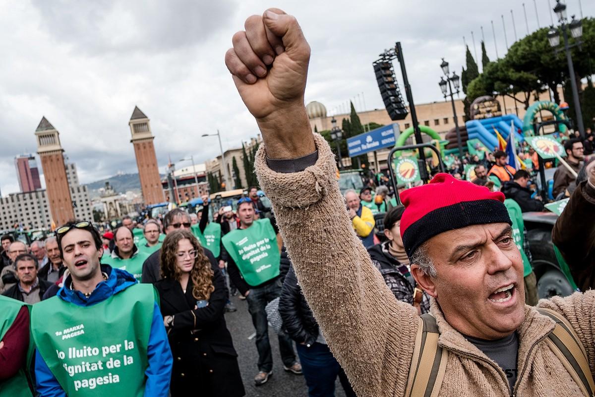 Imatge de la marxa pagesa que es va celebrar a Barcelona