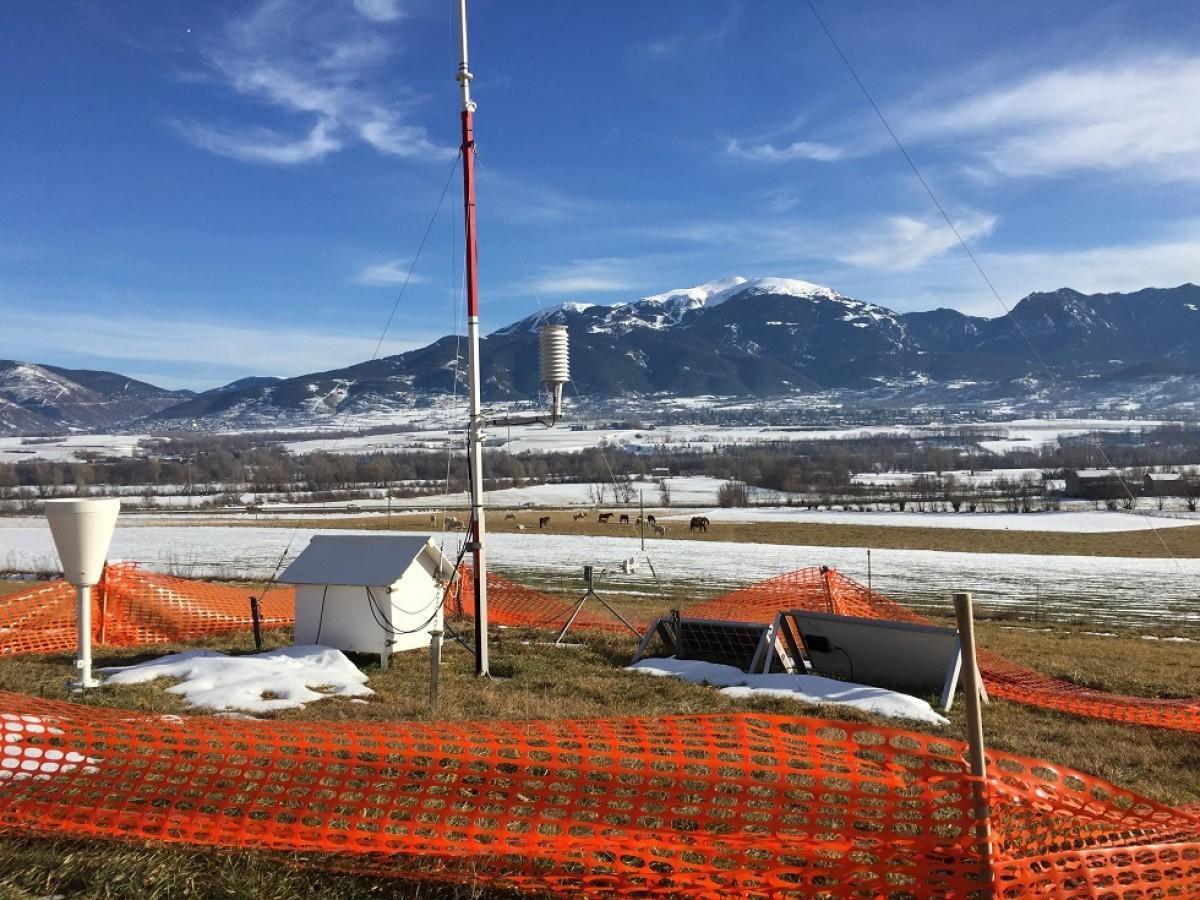 Una de les 14 estacions mòbils que s'han instal·lat a la comarca aquests últims mesos