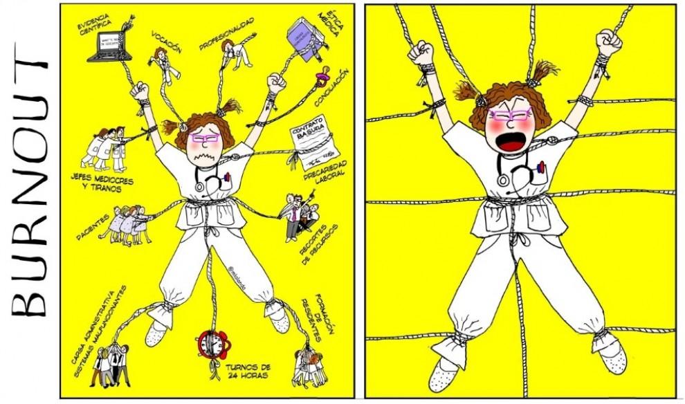 Fragment d'una il·lustració de denúncia de Monica Lalanda al seu blog