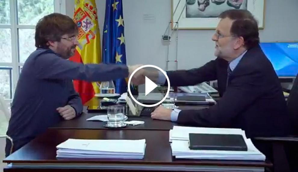 Jordi Évole, amb Mariano Rajoy