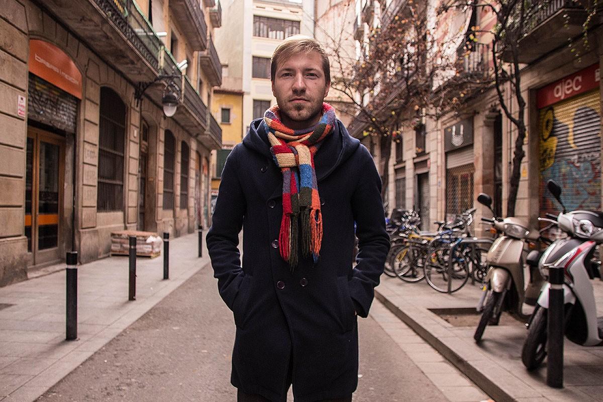 L'Ivan, un refugiat ucraïnès, al Raval de Barcelona.