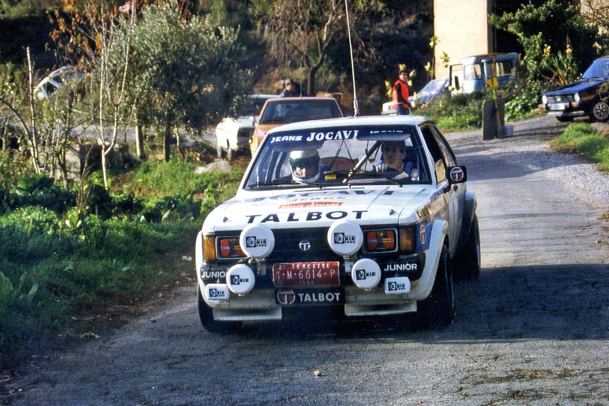 Antonio Zanini-Víctor Sabater (Talbot Sunbeam Lotus grupo 2). Rallye Catalunya 1982