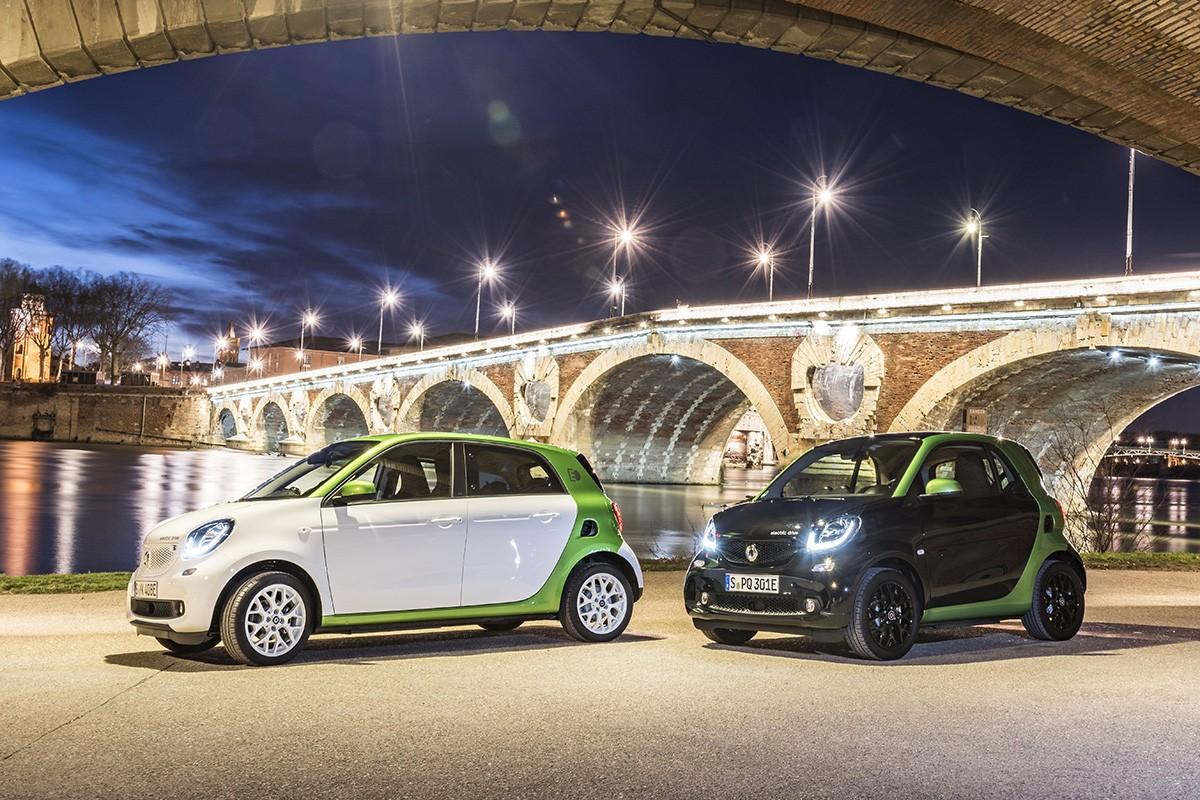 Fins a 160 km d'autonomia per als Smart elèctrics