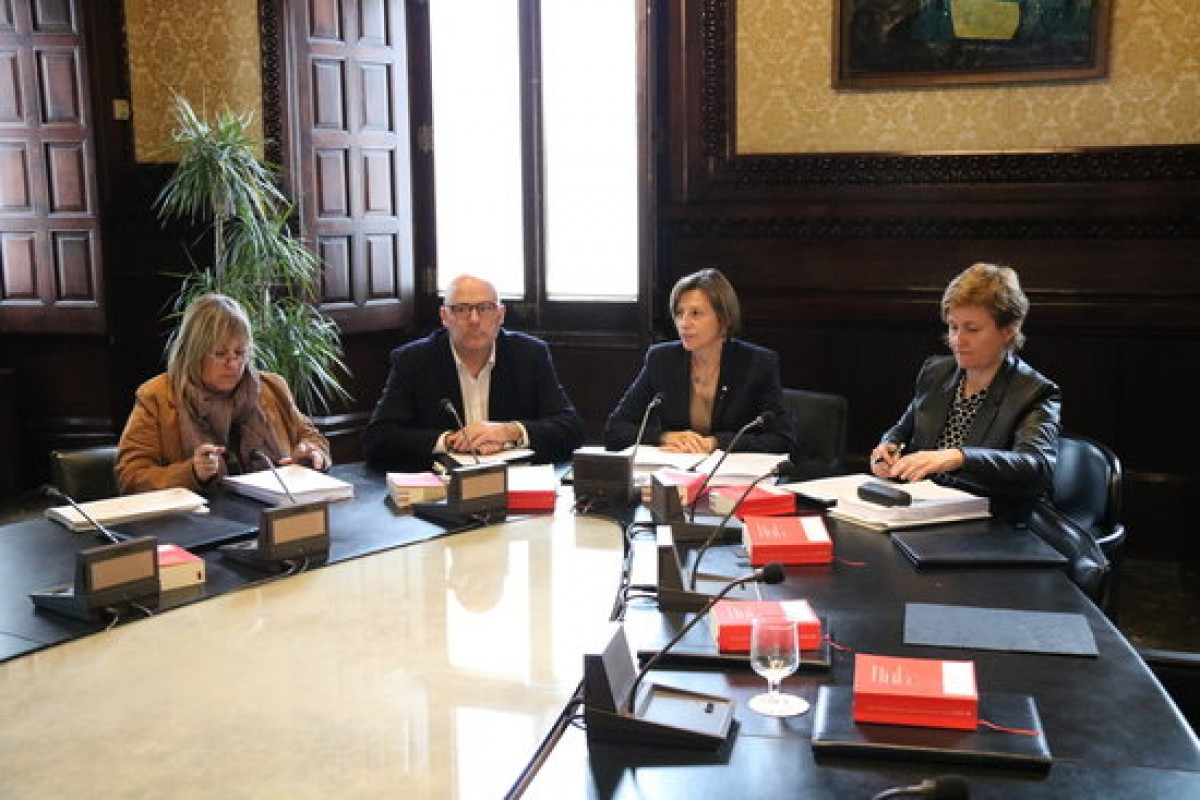 Els membres sobiranistes de la mesa del Parlament de la passada legislatura, en una imatge d'arxiu