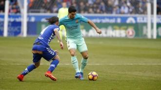 El Barça atropella l'Alabès i se situa líder provisional a la Lliga (0-6)
