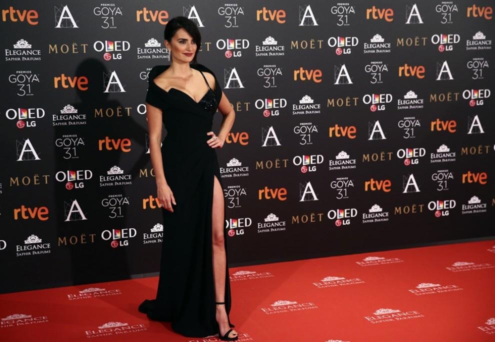 Penélope Cruz, a la catifa vermella dels Goya 2017