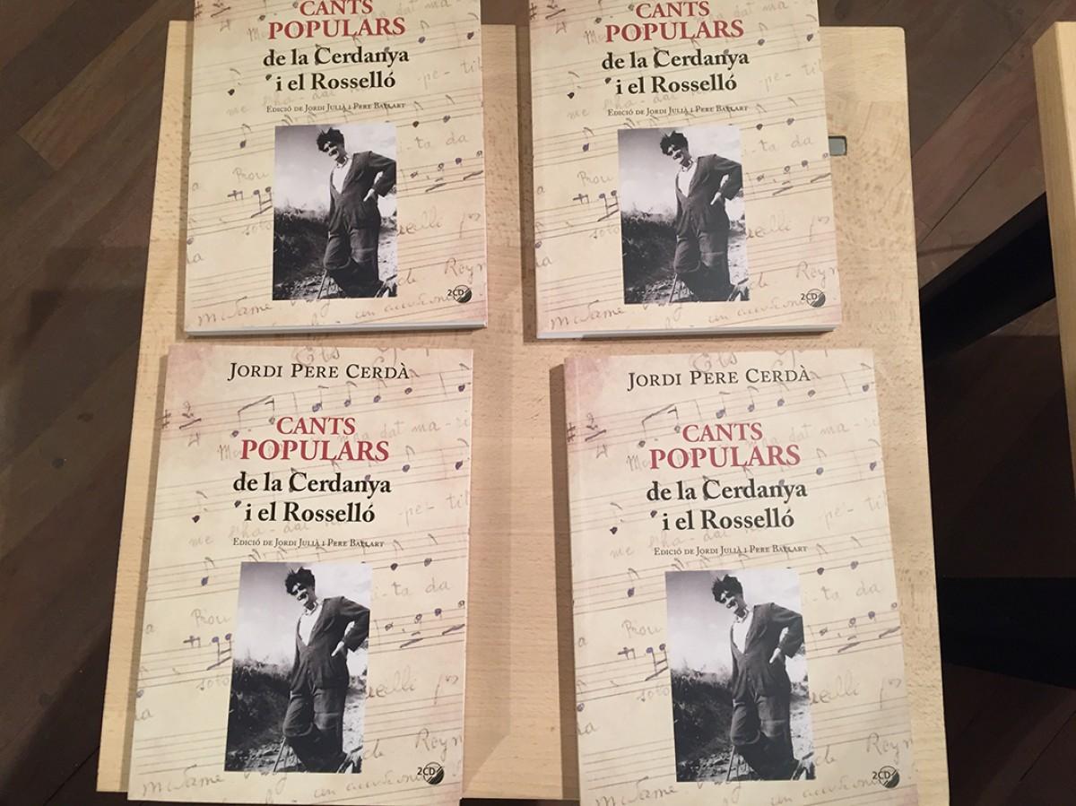 Portades del llibre Cants populars de la Cerdanya i el Rosselló