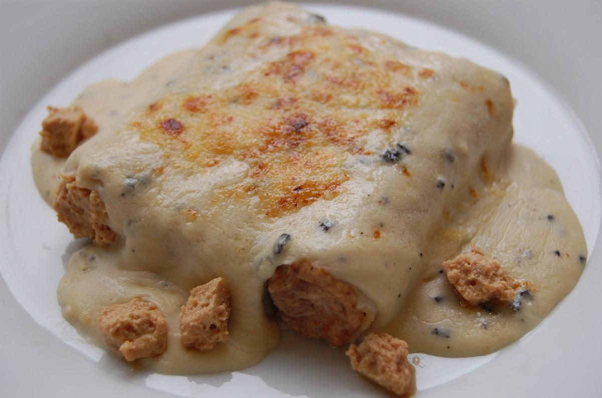 Els canelons Rossini, un dels menjars que seran presents al concert culinari de la Pedrera