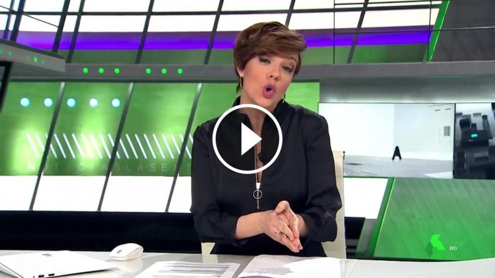 La presentadora de LaSexta Cristina Villanueva.