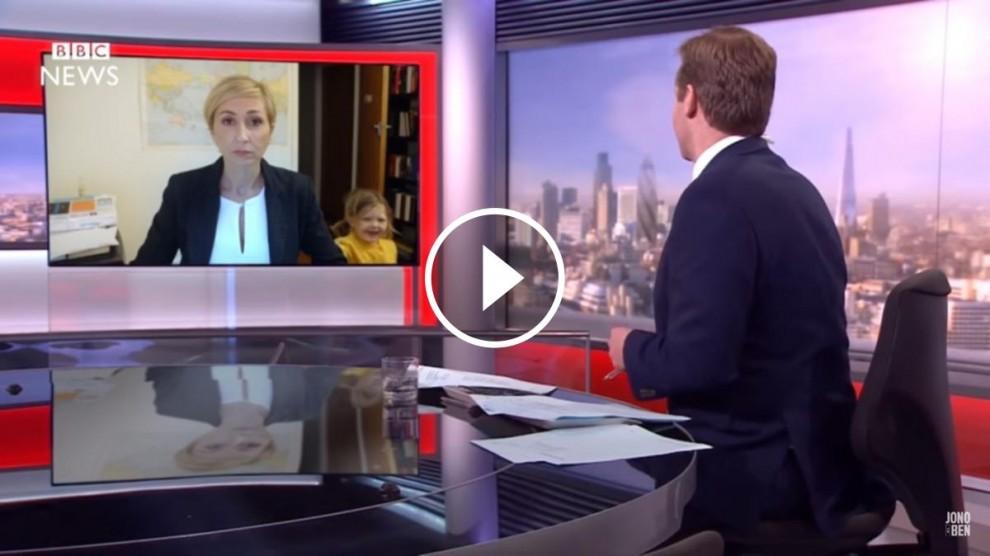 L'entrevista a la BBC, si hagués estat a una dona.