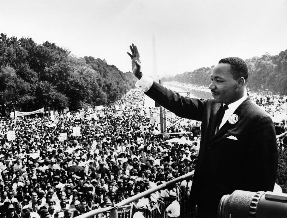Martin Luther King, a la Marxa sobre Washington per la Feina i la Llibertat