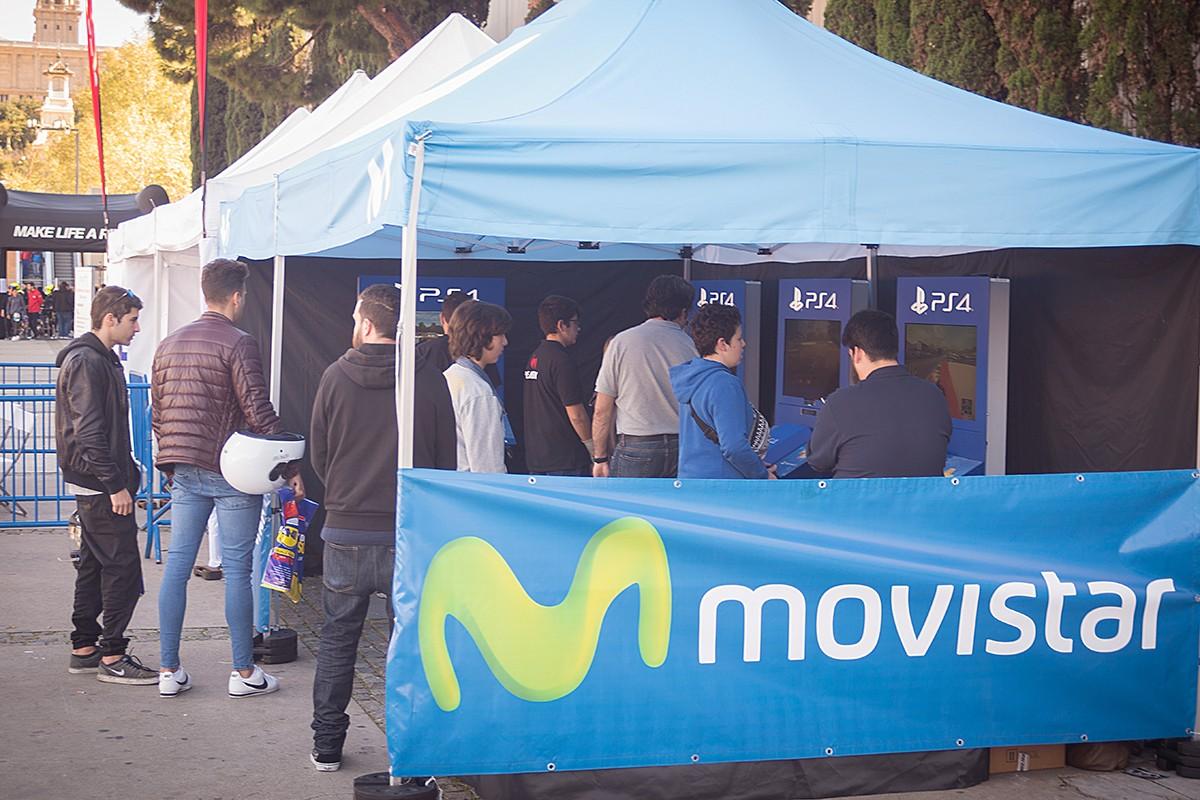 L'estand de Movistar a Motoh! Barcelona