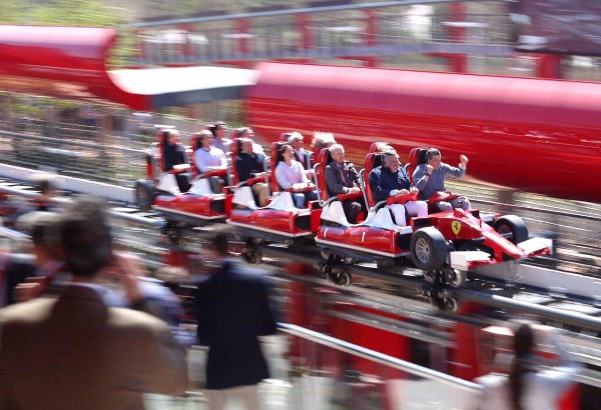 El Red Force, una de les grans atraccions de Ferrari Land
