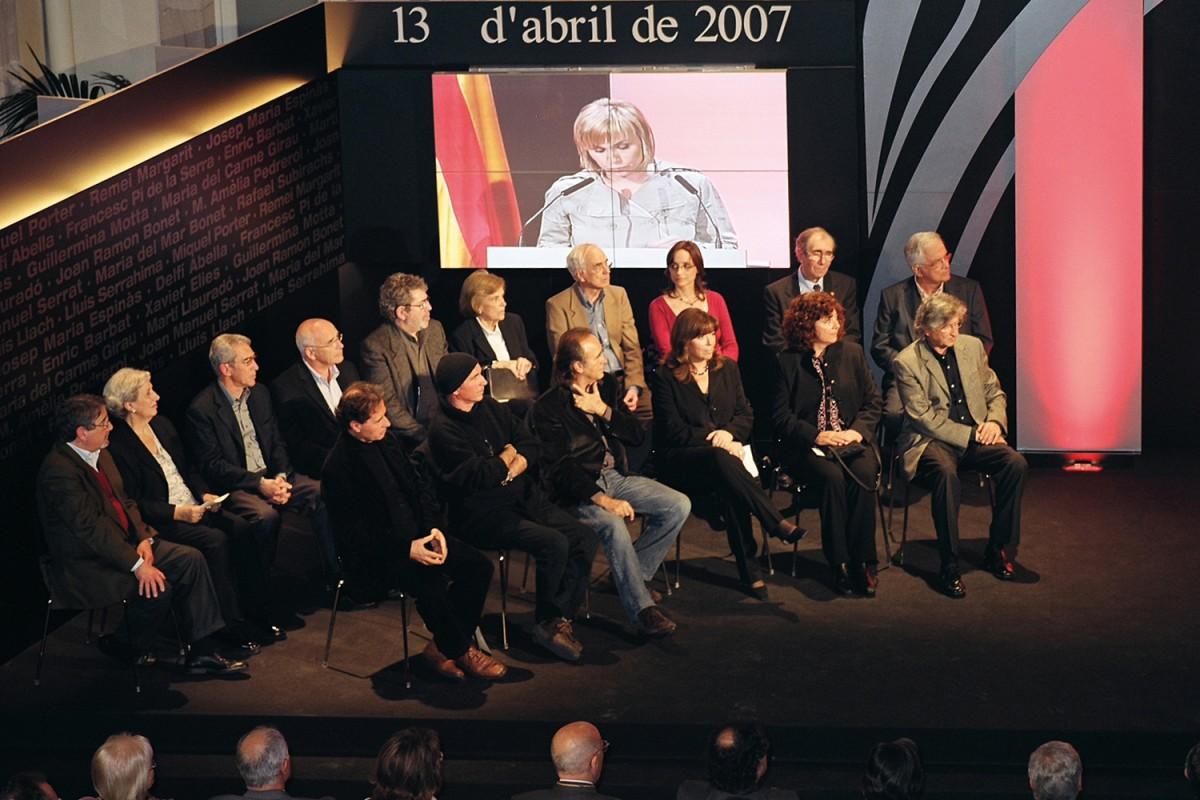 Els Setze Jutges al Parlament el 13 d'abril de 2007