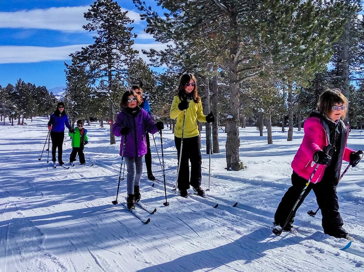 Esquiadors a Guils Fontanera, aquesta temporada