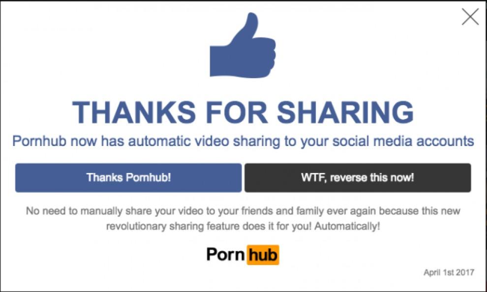 El missatge amb què Pornhub va espantar els seus usuaris.
