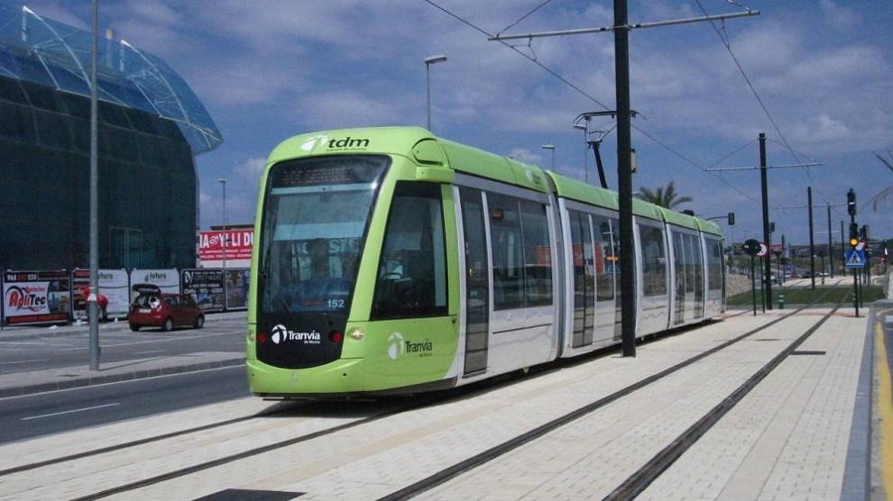 Imatge d'un tramvia de Múrcia