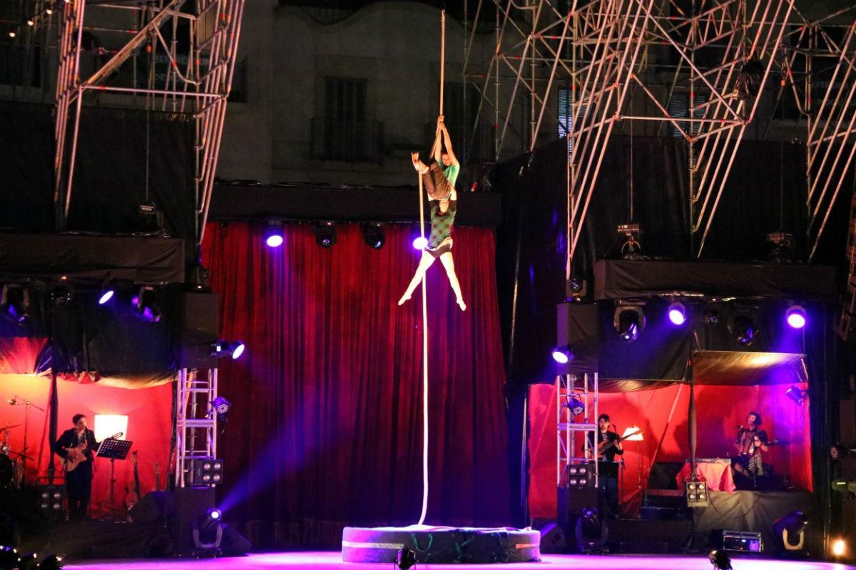 Imatge d'arxiu d'un espectacle del Trapezi.