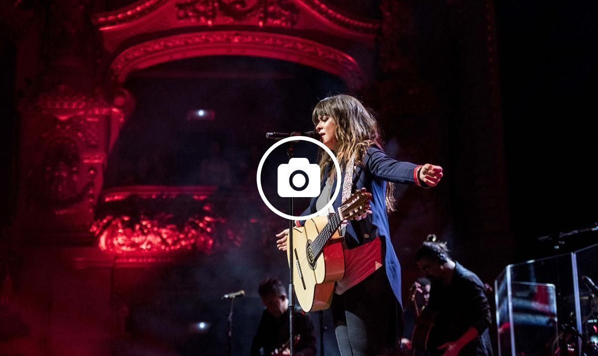 Vanesa Martin durant el concert d'aquest dilluns 15 de maig