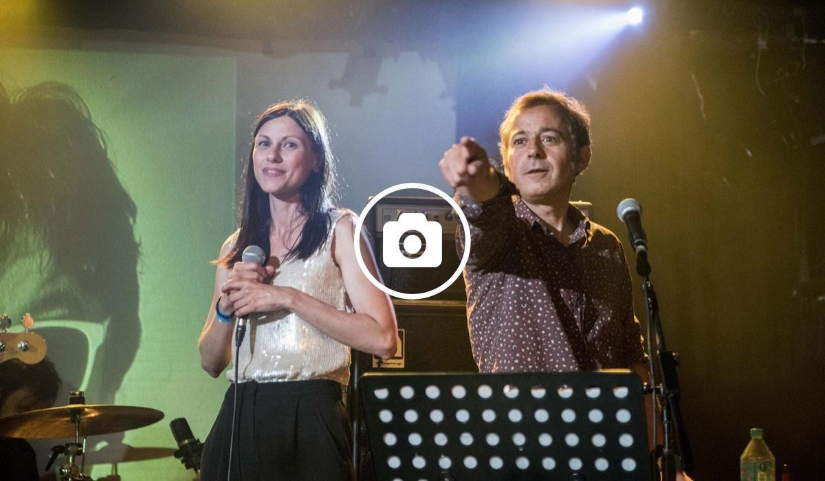 Helena Miquel i Le Petit Ramon durant el concert