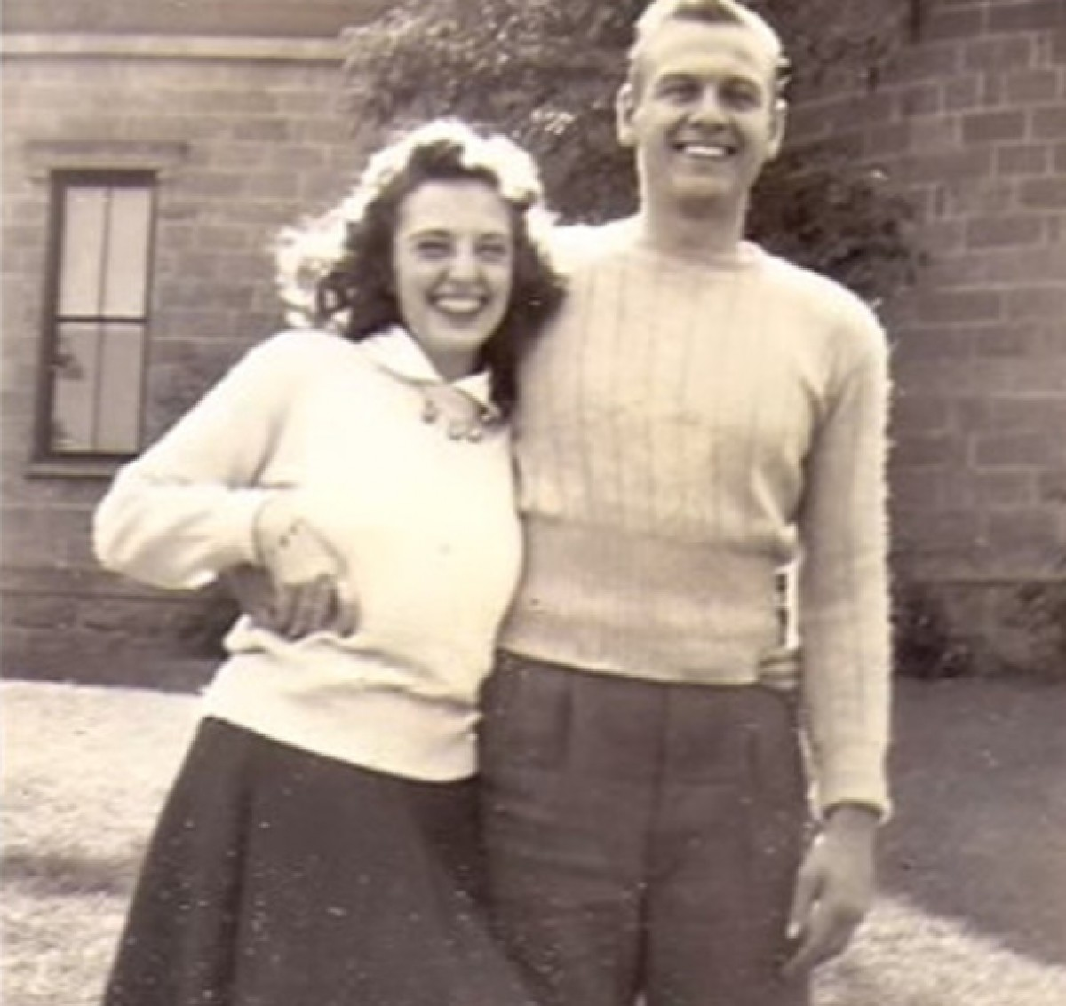 La foto de la parella, de jove