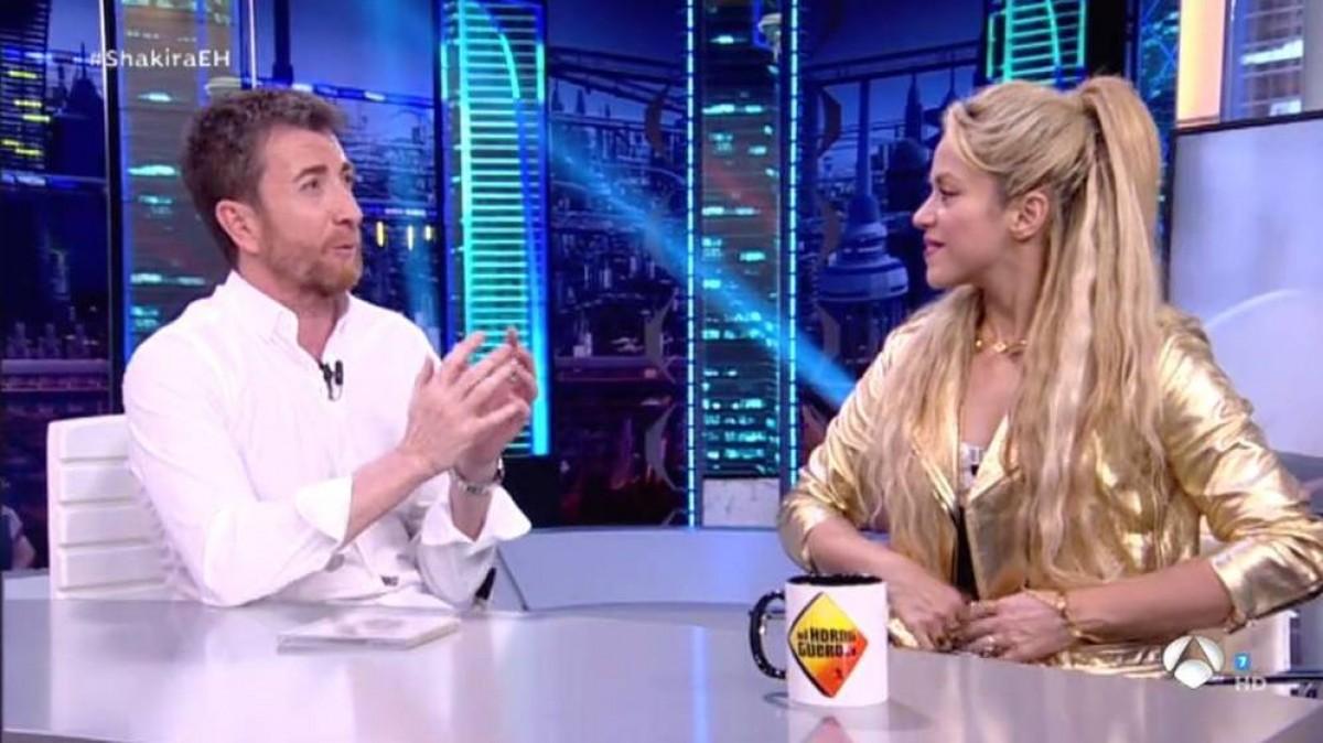 Shakira i Pablo Motos, aquest dilluns a «El Hormiguero»