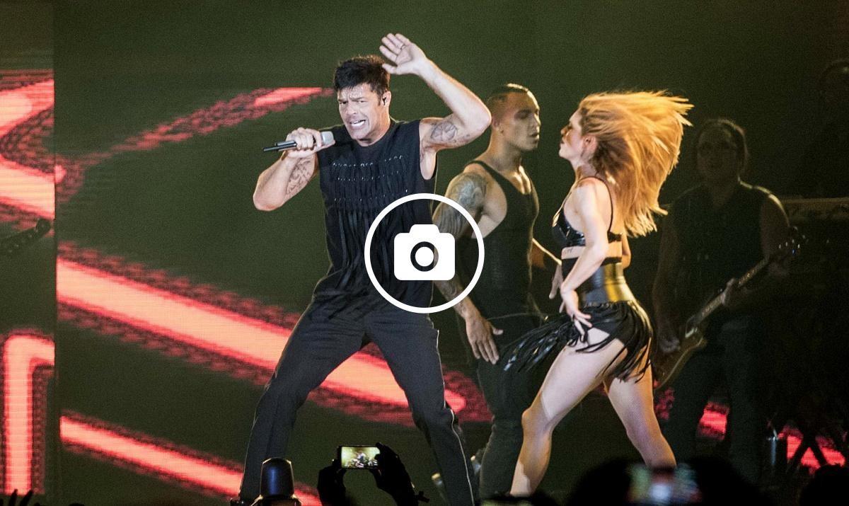 Ricky Martin durant el seu concert a Barcelona