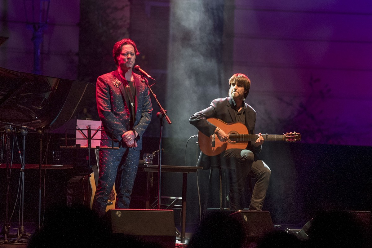 Rufus Wainwright i Pau Figueres al Festival Jardins de Pedralbes