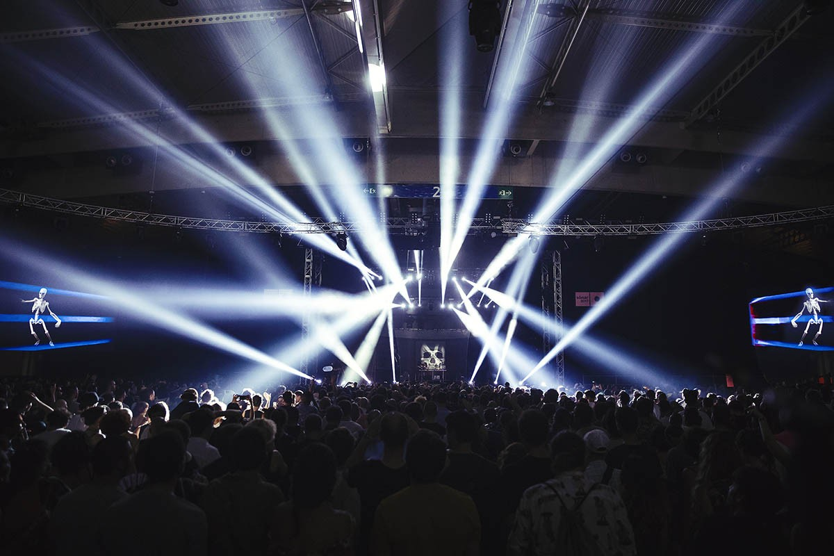 Un moment de DJ Shadow aquest divendres al Sónar